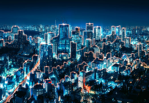 Smart Network and Connection city of Japan