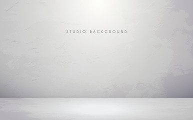 Empty white studio room background