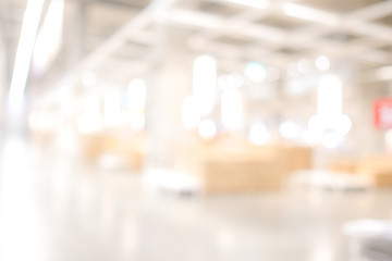 Blurred business background, Blur warehouse with bokeh light background Wall mural