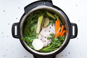 Ingredients to Make Chicken Stock inside Pressure Cooker