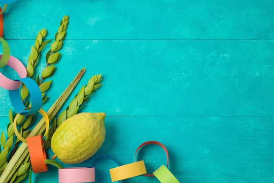 Jewish holiday Sukkot celebration background
