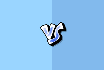 Versus screen vector design. Vs card for text. Wall mural