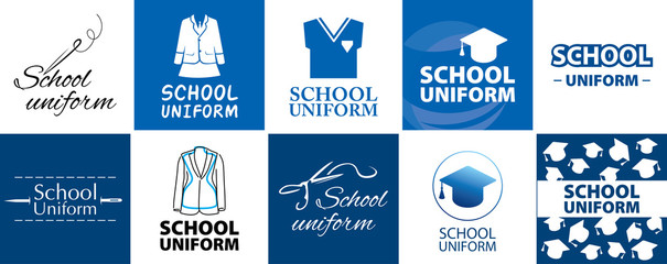 Vector logo for school store clothes and uniforms