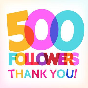 500 followers thank you! card