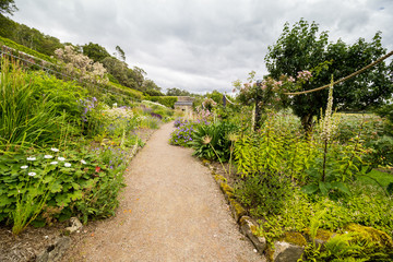 Inverewe Gardens, Scotland, with a variety of perennial and annual plants