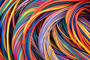 Electrical Wiring Solutions Multicolored Cable Close-up
