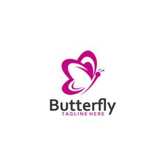 Butterfly logo design icon vector
