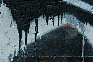 Dripping paint abstract