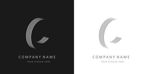 c logo 3d letter modern and creative design