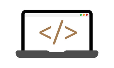 costum coding icon vector modern style design