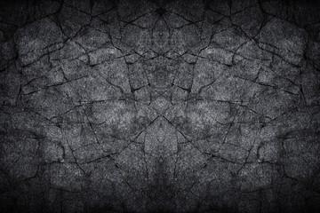 black gray dark slate stone crack background or texture