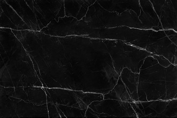 Photo sur Toile Les Textures Black marble natural pattern for background, abstract natural marble black and white