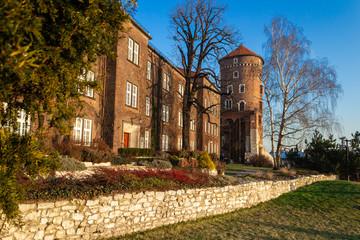 Fototapeta Wawel Royal Castle photo of beautiful scenic krakow Krak?w city in Poland. The Wawel Royal Castle and the Wawel Hill constitute the most historically and culturally important site in Poland. obraz