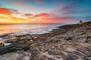 Wall Mural - Stunning sunrise over the beach at Howick on the Northumberland coast