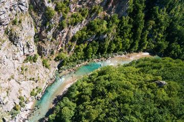 Fototapeta Kanion rzeki Tary. Czarnogóry. obraz