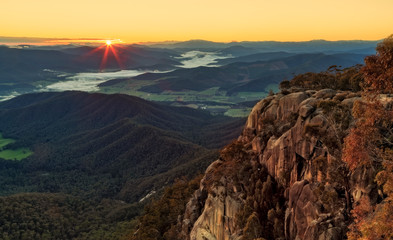 Sunrise at Bent's Lookout, Mount Buffalo
