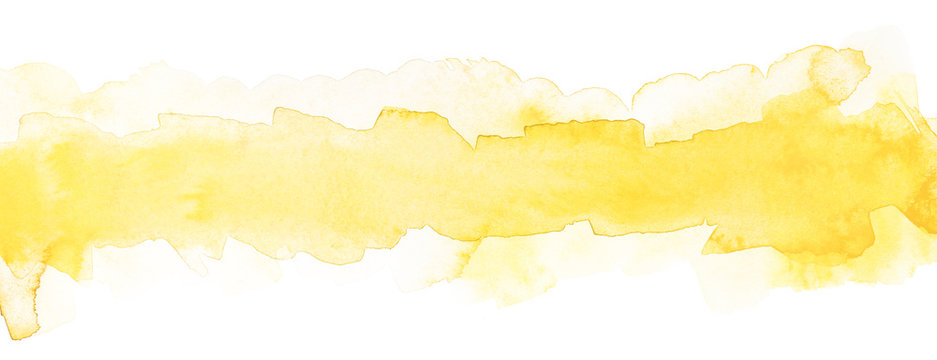 light yellow watercolor strip with smooth paper texture for text and design