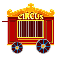 Vector Illustration of a Vintage Circus Cage