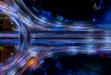 Electron of Traffic light tail that show it is a life build of infrastructure road and economic system transportation and communication