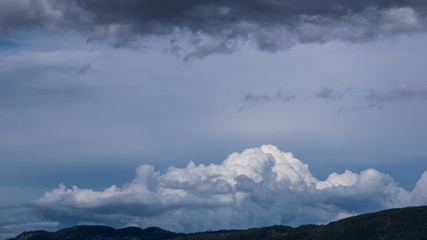Clouds above the hills