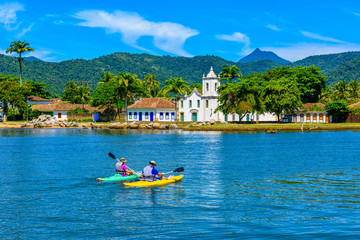 Wall Mural - Historical center of Paraty Rio de Janeiro, Brazil. Paraty is a preserved Portuguese colonial and Brazilian Imperial municipality