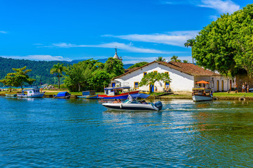 Fotomurales - Historical center of Paraty Rio de Janeiro, Brazil. Paraty is a preserved Portuguese colonial and Brazilian Imperial municipality