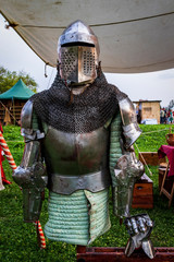 Poster Ridders Knight armor on Renaissance festival