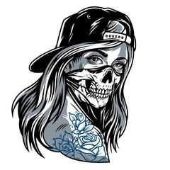 Vintage chicano gangster girl