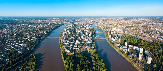Nantes aerial panoramic view, France