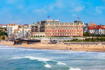 Obraz Hotel du Palais building in Biarritz - fototapety do salonu