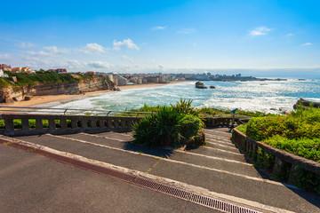 Wall Mural - La Grande Plage beach, Biarritz