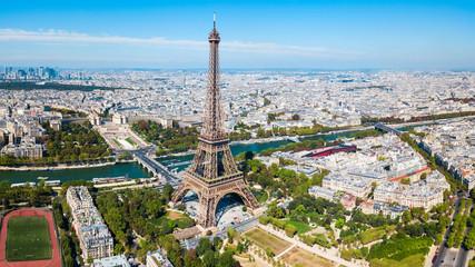 Foto auf Gartenposter Paris Eiffel Tower aerial view, Paris