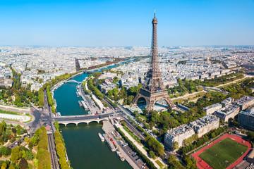 Poster de jardin Paris Paris aerial panoramic view, France
