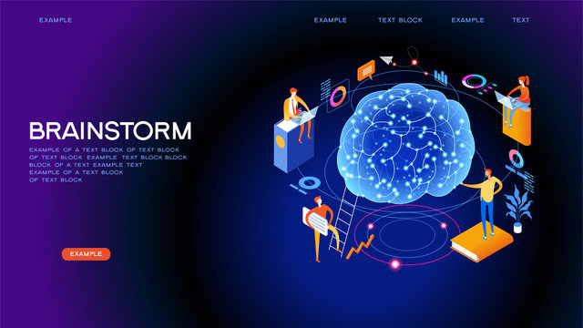 Brainstorming web banner