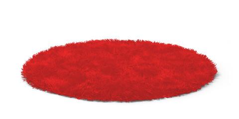 Clean round floor carpet