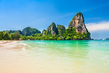 Wall Mural - Clear water beach in Thailand