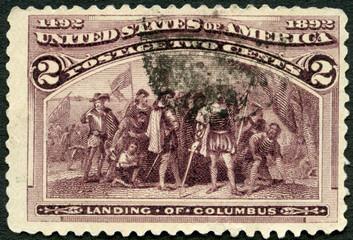 USA - 1922: shows Landing of Christopher Columbus (1451-1506), 1922