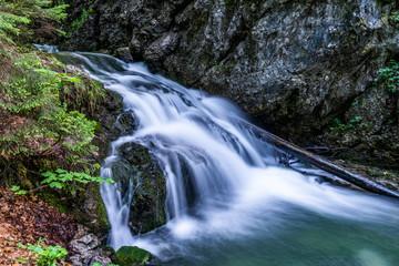 Josefsthaler Wasserfälle am Schliersee - oberer Bereich in Langzeitbelichtung