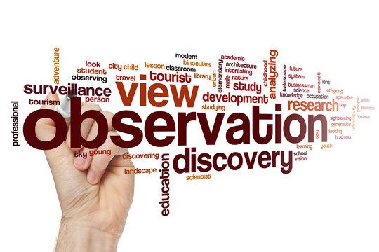 Observation word cloud
