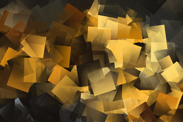 Hintergrund, Mosaik mit gelben und schwarzen geometrischen Formen