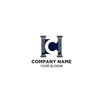 HC legal law firm logo design vector