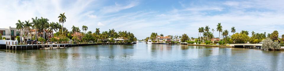 Türaufkleber Panoramafotos Fort Lauderdale Florida panorama panoramic view Las Olas villas marina