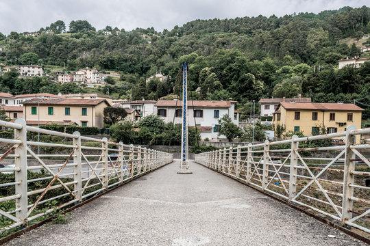 Cable-stayed bridge over the Vezza river - Seravezza