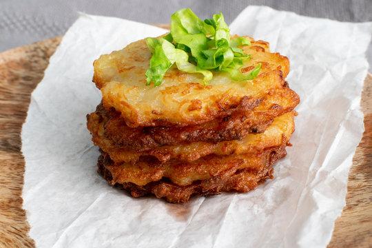 Potato Pancakes, Draniki, Deruny, Potato Latkes or Boxties