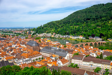 Panorama of Heidelberg in Germany