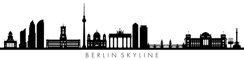 Berlin, skyline silhouettes