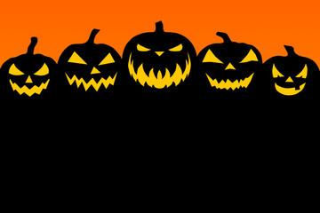 Black-orange Halloween background Fototapete