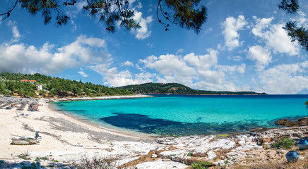 Wall Mural - Landscape with Psili Ammos beach at Thassos islands,  Greece