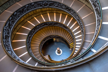 Photo sur Aluminium Spirale Escalera Vaticano