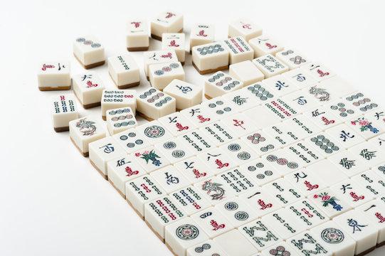 old Mahjong tiles